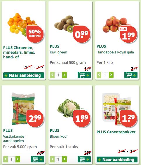 PLUS supermarkt aanbiedingen