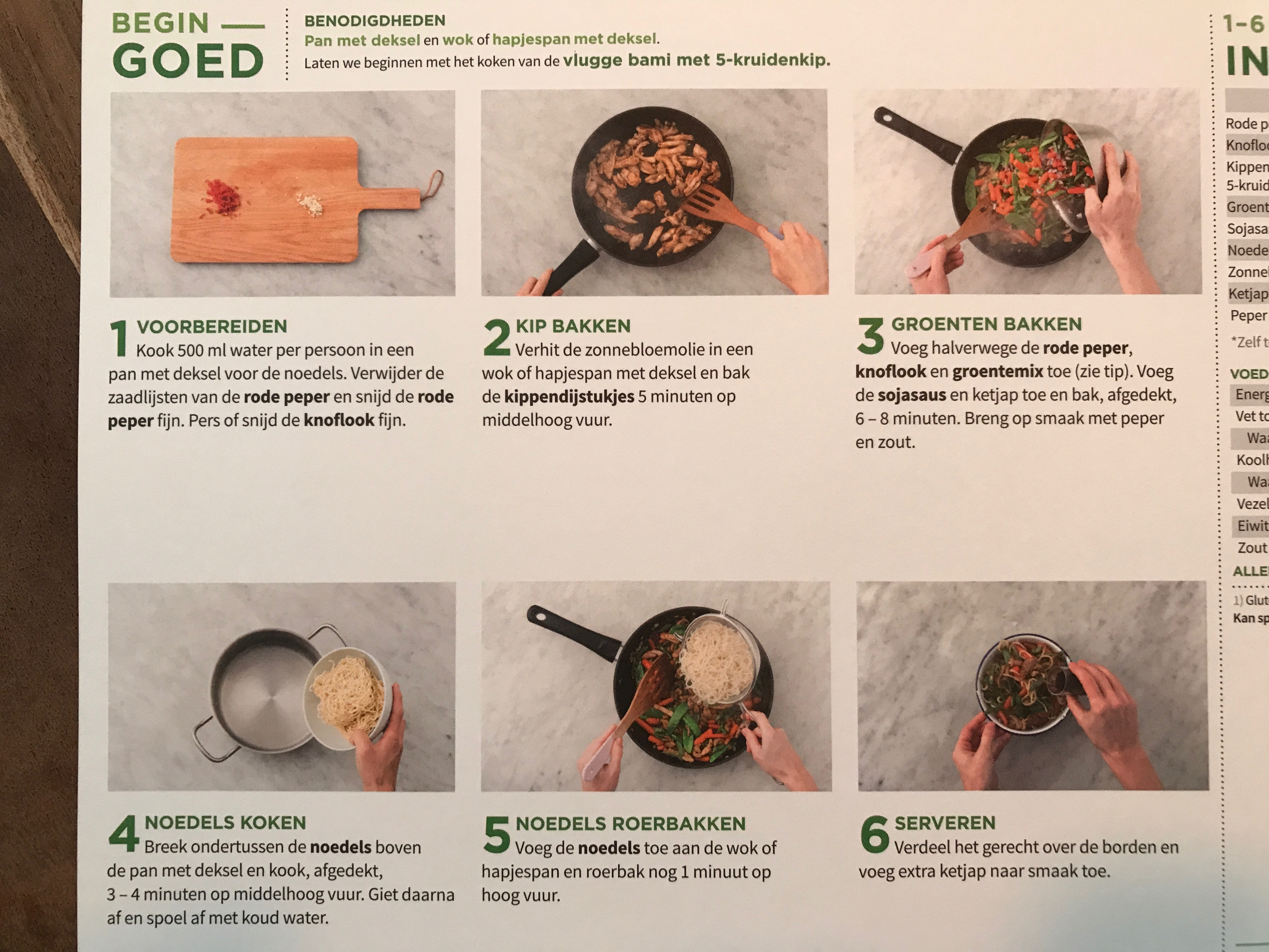 kookinstructies hellofresh