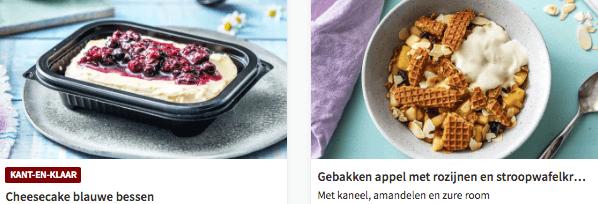 desserts van hellofresh