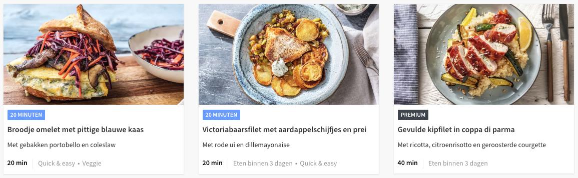 premium gerechten bij HelloFresh