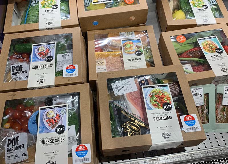 albert heijn verse maaltijdbox in supermarkt