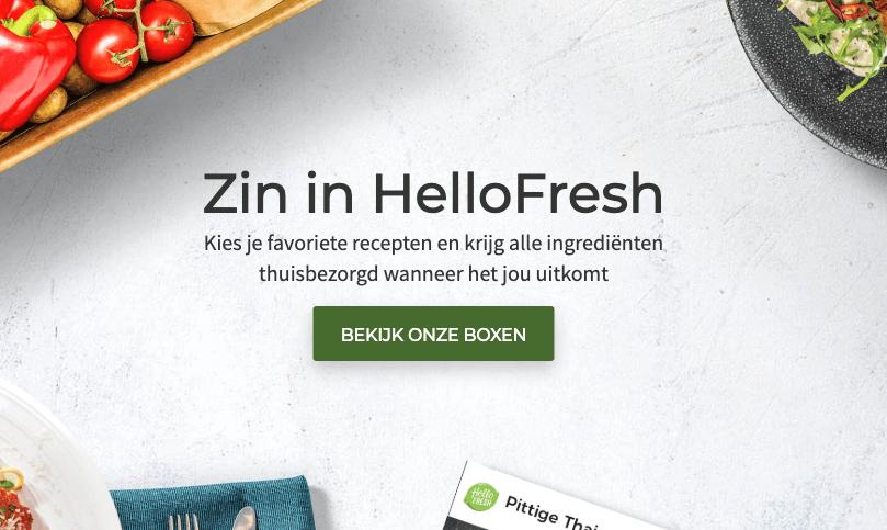 hellofresh in belgie